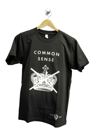 Penguin Men's Tee: Common Sense (L) Black