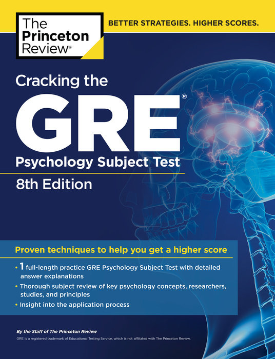 Cracking the GRE Psychology Subject Test, 8th Edition