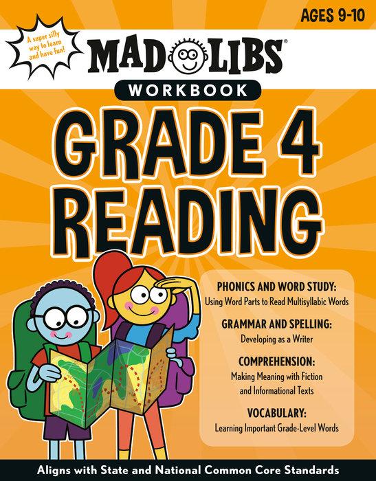 Mad Libs Workbook: Grade 4 Reading