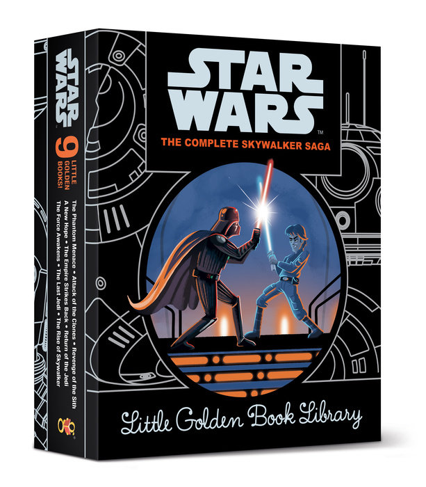 Star Wars Episodes I - IX Little Golden Book Library (Star Wars)