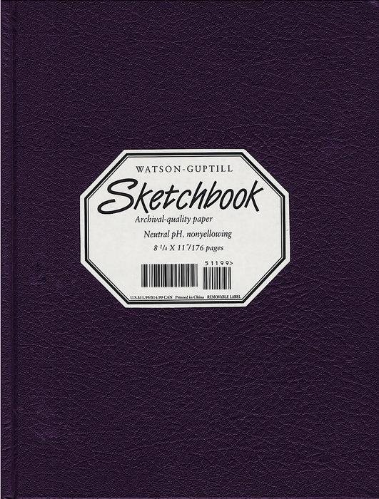 Large Sketchbook (Kivar, Blackberry)