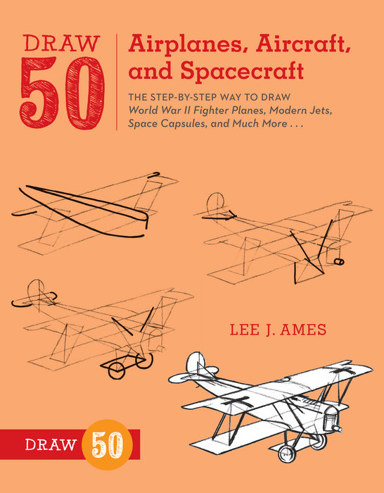 Draw 50 Airplanes, Aircraft, and Spacecraft