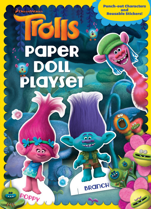 Trolls Paper Doll Playset
