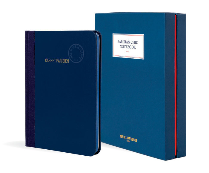 Parisian Chic Notebook (blue, large)