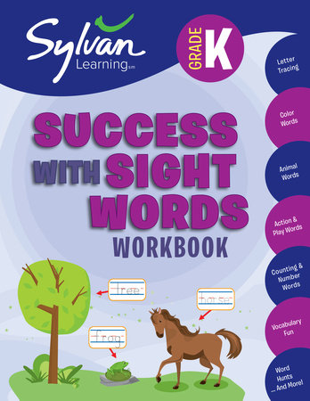Kindergarten Success with Sight Words (Sylvan Workbooks) by