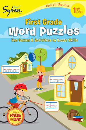First Grade Word Puzzles (Sylvan Fun on the Run Series) by Sylvan Learning