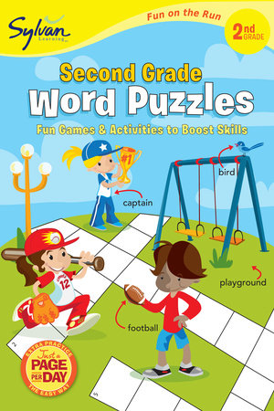 Second Grade Word Puzzles (Sylvan Fun on the Run Series) by