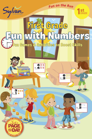 First Grade Fun with Numbers (Sylvan Fun on the Run Series) by Sylvan Learning