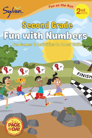 Second Grade Fun with Numbers (Sylvan Fun on the Run Series) by Sylvan Learning