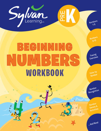 Pre-K Beginning Numbers (Sylvan Workbooks) by
