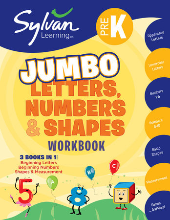 Pre-K Letters, Numbers & Shapes Super Workbook (Sylvan Super Workbooks) by Sylvan Learning