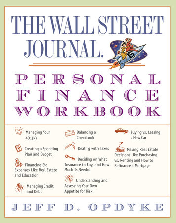 The Wall Street Journal. Personal Finance Workbook by