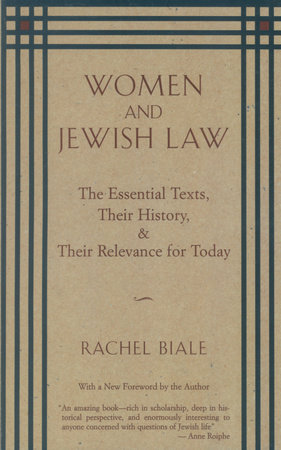 Women and Jewish Law by