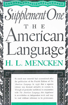 American Language Supplement 1 by H.L. Mencken