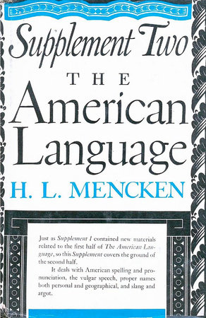 American Language Supplement 2 by H.L. Mencken
