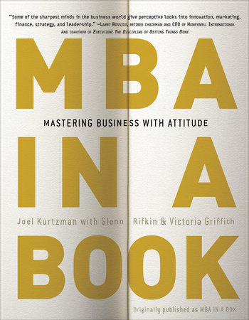 MBA in a Book by Joel Kurtzman, Glenn Rifkin and Victoria Griffith