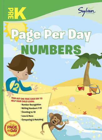 Pre-K Page Per Day: Numbers by Sylvan Learning