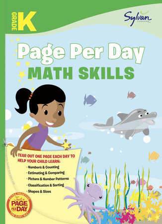 Kindergarten Page Per Day: Math Skills by Sylvan Learning