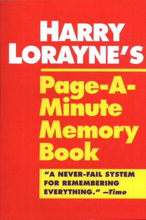 Page-a-Minute Memory Book by Harry Lorayne