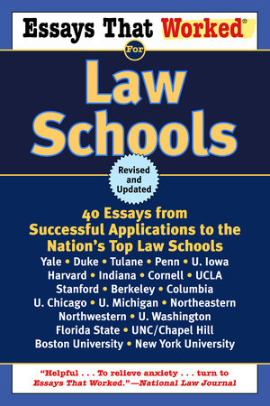 Essays That Worked for Law Schools (Revised) by Brian Kasbar and Boykin Curry