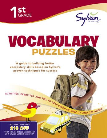 First Grade Vocabulary Puzzles (Sylvan Workbooks) by Sylvan Learning