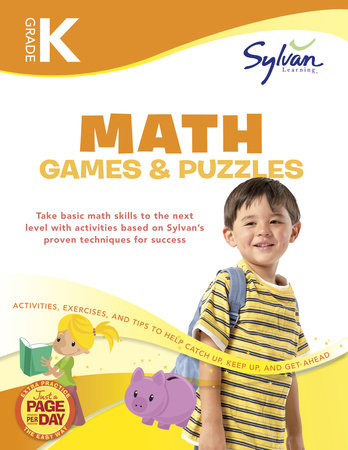Kindergarten Math Games & Puzzles (Sylvan Workbooks) by