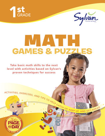 First Grade Math Games & Puzzles (Sylvan Workbooks) by Sylvan Learning