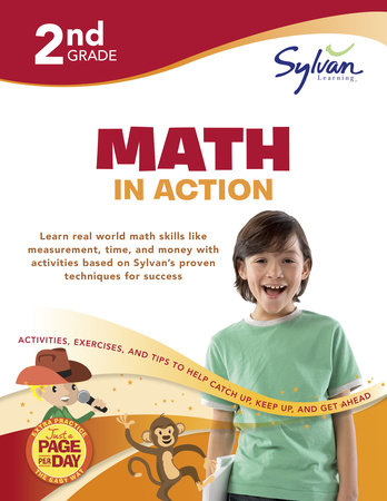 Second Grade Math in Action (Sylvan Workbooks) by Sylvan Learning