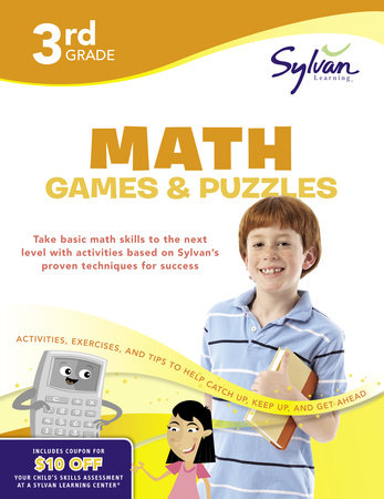 Third Grade Math Games & Puzzles (Sylvan Workbooks) by