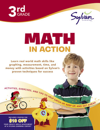 Third Grade Math in Action (Sylvan Workbooks) by
