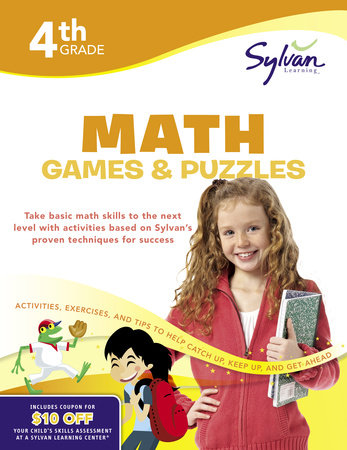 Fourth Grade Math Games & Puzzles (Sylvan Workbooks) by
