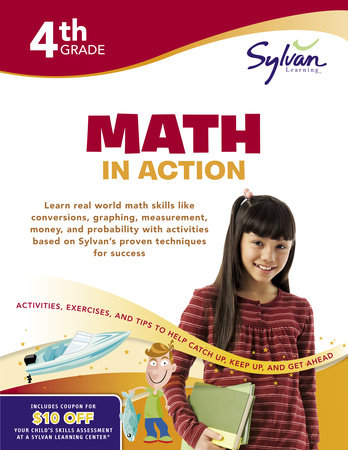 Fourth Grade Math in Action (Sylvan Workbooks) by Sylvan Learning