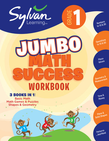 First Grade Super Math Success (Sylvan Super Workbooks) by Sylvan Learning