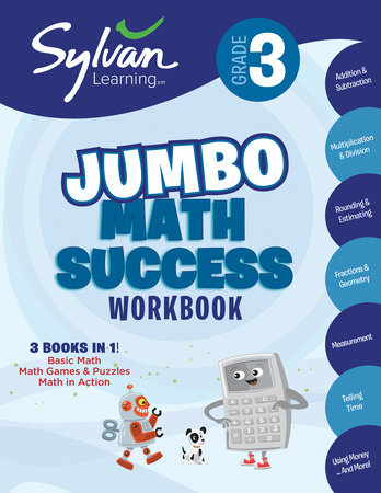 Third Grade Super Math Success (Sylvan Super Workbooks) by Sylvan Learning