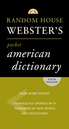 Random House Webster's Pocket American Dictionary, Fifth Edition by