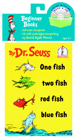 One Fish, Two Fish, Red Fish, Blue Fish Book & CD by