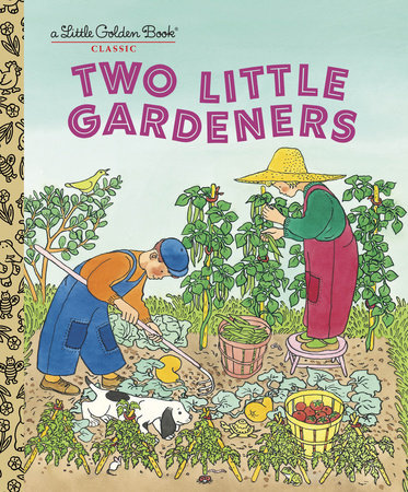 Two Little Gardeners by