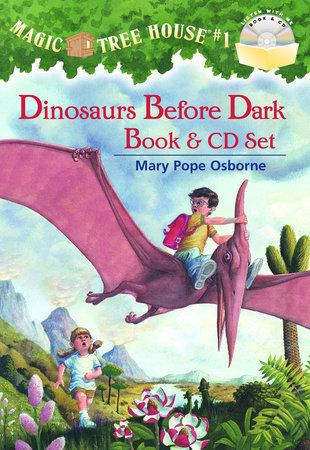 Magic Tree House #1: Dinosaurs Before Dark Book & CD Set by