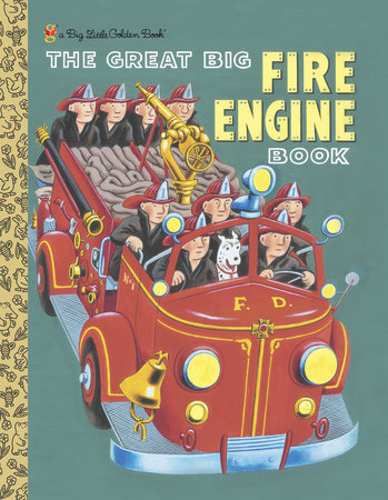 The Great Big Fire Engine Book (Personalized Book) by Golden Books