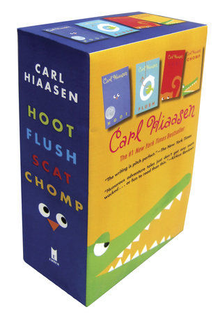 Hiaasen 4-Book Trade Paperback Box Set (Chomp, Flush, Hoot, Scat) by Carl Hiaasen