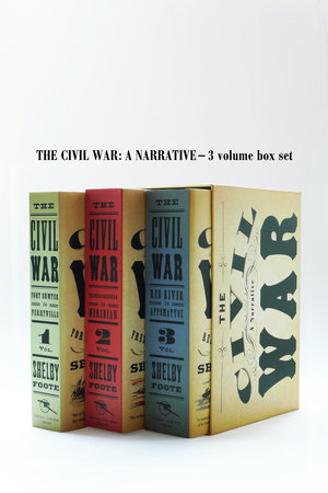 Civil War Volumes 1-3 Box Set by Shelby Foote