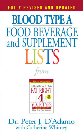 Blood Type A  Food, Beverage and Supplemental Lists