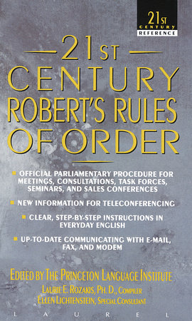 21st Century Robert's Rules of Order by Princeton Lang Inst