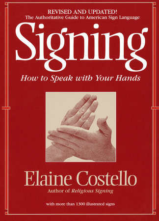 Signing by Elaine Costello, Ph.D.