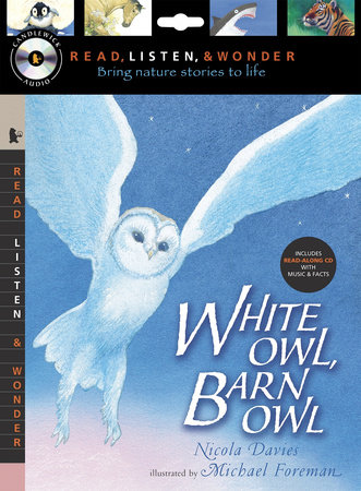 White Owl, Barn Owl with Audio, Peggable by