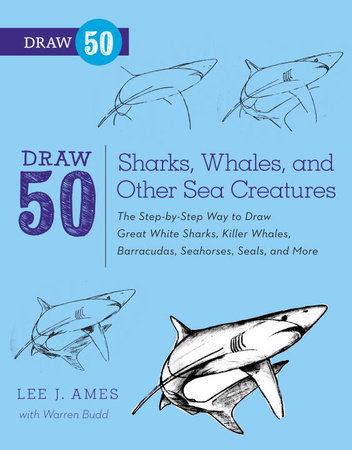 Draw 50 Sharks, Whales, and Other Sea Creatures by