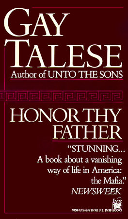 HONOR THY FATHER by Gay Talese