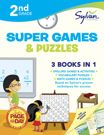 Second Grade Super Games & Puzzles (Sylvan Super Workbooks) by Sylvan Learning