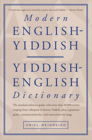 Modern English-Yiddish Dictionary by