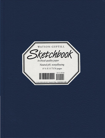 Large Sketchbook (Lizard, Navy Blue) by